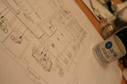 Aria - AutoCad Services - CAD drawing on a desk